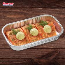 Read the full recipe after the video. Costco Our Fresh Boneless Skinless Salmon Is Topped With Our Kirkland Signature Pesto Basil Butter With A Sprig Of Fresh Dill Freshly Made In Our Service Delis Facebook