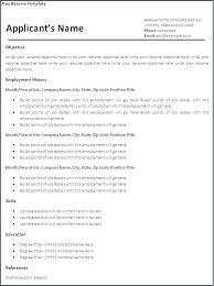 Word Document Resume Template Unique Free Resume Templates Word Document Word Document Resume Template