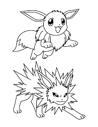 Pokemon Evee Coloring Page Pokemon Coloring Pages Eevee Evolutions