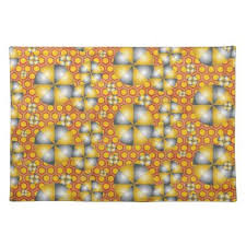 pattern idea circles pattern on a honeycomb background placemat modern style