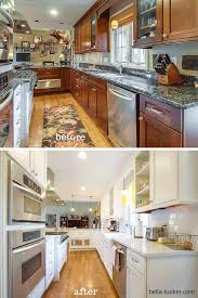 painted white kitchen cabinets before and after. White Painted Cabinets- Bella Tucker Decorative Finishes Kitchen Cabinets Before And After T