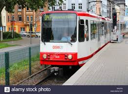 DORTMUND, GERMANY - JULY 16: People ride city tram on July 16, 2012 in  Dortmund, Germany. Dortmund light rail network serves 130 million annual  rides Stock Photo - Alamy
