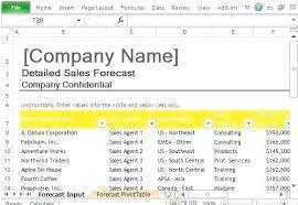 Forecasting Spreadsheet Sales Forecast Spreadsheet Template