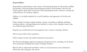 Nanny Job Responsibilities Resume Nanny Job Description Resume Example Duties Of A Housekeeper Pics 65
