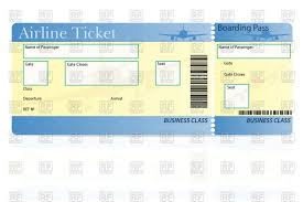 Movie Ticket Template Free Download Airline Ticket Template Royalty Free Vector Clip Art Image 24 15