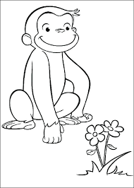 coloring pages curious george coloring pages project birthdays for s free to print