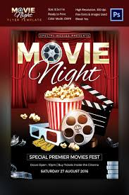 Word Template Flyer Free Movie Night Flyer Word Template Free Movie Night Party Printables