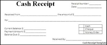 Cash Receipt Template Doc Puebladigital Net
