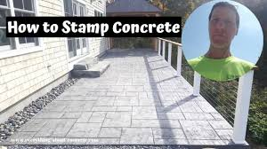 Best Mix Design For Stamped Concrete How To Stamp Concrete Training From A Real Pro