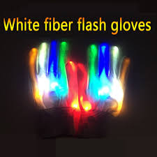 <b>1 pair New Arrival</b> Light Up Toys LED Flashing Magic Glove Glow In ...