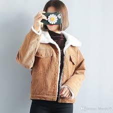 fashion women sherpa jacket winter warm corduroy jacket coat long sleeve on up biker jacket overcoat cool streetwear 1202 black leather er jacket