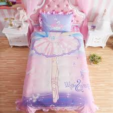 kids pink white swan princess girls comforter set