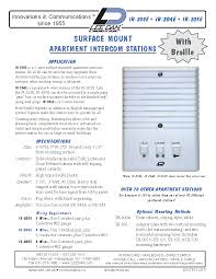 lee dan ir e ire apartment intercom station wire get the brochure