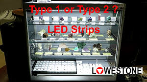 display cabinet led lighting type 1 or 2
