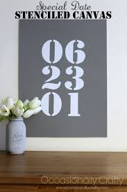 special date stenciled wall canvas occasionally crafty special date stenciled wall canvas on number canvas wall art with special date stenciled wall canvas occasionally crafty special