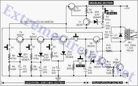 electronic circuits intelligent electronic lock circuit diagram