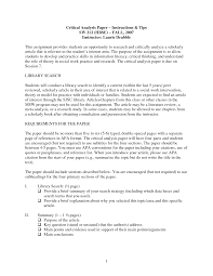 critical essay outline sample application essay sample papers examples of critical analysis student services the university of