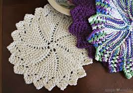 Knitted Round Dishcloth Pattern