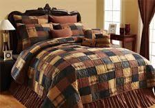 Quilts, Bedspreads & Coverlets   eBay & Patriotic Patch Primitive Block Brown 5pc Cal King Queen Quilt Set VHC  Brands Adamdwight.com
