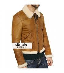 designers men shearling winter tan motorcycle jacket 300 00 175 00
