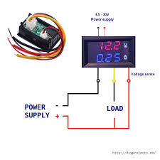 ammeter wiring diagram wiring diagram how to wire digital dual display volt and ammeter diy projects10a 100v volt and ammeter wiring