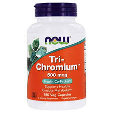 Buy Now Foods, <b>Tri</b>-<b>Chromium</b>, <b>500 mcg</b>, <b>180</b> Veg Capsules Online ...