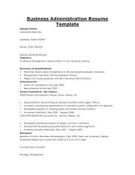 Sample Resume Objectives For Business Management Save Business