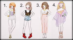 How To Draw Girl Shirts Drawing Tutorial How To Draw 4 Summer Outfits Youtube