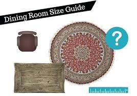 dining room rug size guide and round placement tips chart horse
