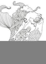 Small Picture Realistic Mermaid Coloring Pages Detailed Coloring Coloring Pages