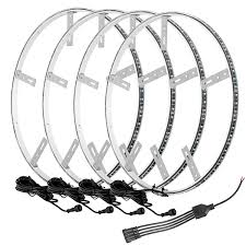 How To Install Wheel Ring Lights Amazon Com Oracle Led Illuminated Wheel Rings Four Led
