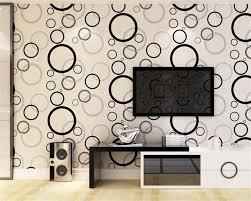 Beibehang Moderne Eenvoudige 3d Stereo Relief Behang Cirkel