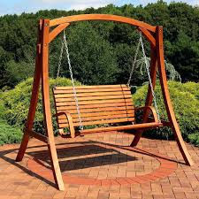 wooden swing stand 2 person wooden porch swing with stand