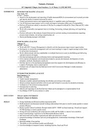 Purchasing Analyst Resume Samples Velvet Jobs