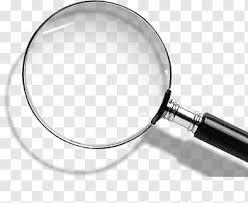 Magnifying Glass Logo Chart Line Chart Data Lens White