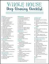 Weekly Household Cleaning Schedule Deep House Cleaning Tfastl Com