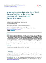 Maryland Tide Chart 2015 Pdf Investigation Of The Potential Use Of Tidal Current