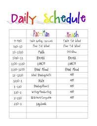 Daily Routine Printable Printable Daily Routine Schedule Template Clipart Clip Art