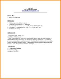 Resume Sample Bank Teller Position Your Prospex
