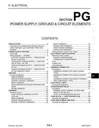 2005 nissan sentra power supply, ground & circuit elements 2005 Nissan Sentra Wiring Diagram 2005 nissan sentra power supply, ground & circuit elements (section pg) (54 pages) 2005 nissan sentra wiring diagram ecm