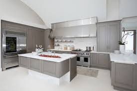 Gray Stained Kitchen Cabinets Grey Stained Kitchen Cabinets White Metal Chrome Over Range