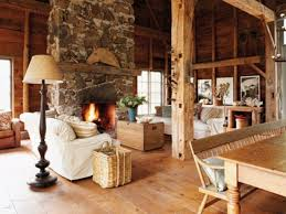 Warm Living Room Decorating Log Cabin Living Room Decor Living Room Design Ideas