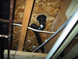Basement Ceiling Leak  Part   Shower Drain Plumbing - Exposed basement ceiling