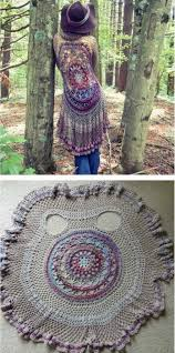 Crochet Circle Pattern Cool Crochet Circular Jacket Pattern Free Pinterest Best Ideas