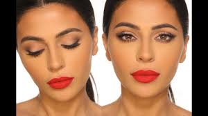 clic red lip makeup tutorial