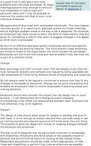 Principles Of Job Design Stress At Work Foreword By The Health And Safety Executive
