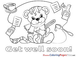 Get Well Soon Printable Coloring Pages Glandigoartcom