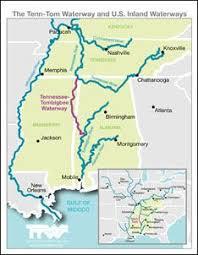 Tennessee Tombigbee Waterway And U S Inland Waterways Map
