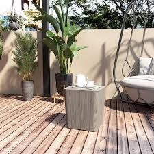 outsunny patio wood effect coffee table