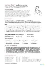 Resume Templates Medical Assistant Basic Medical Assistant Resume ...